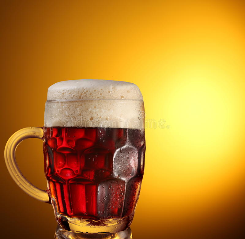 Download Glass of dark beer stock photo. Image of close, brewery - 13391752