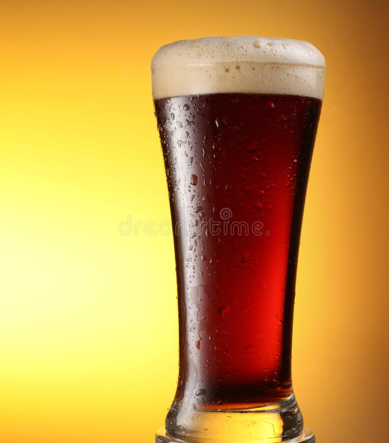 Download Glass of dark beer stock photo. Image of froth, brown - 13392702
