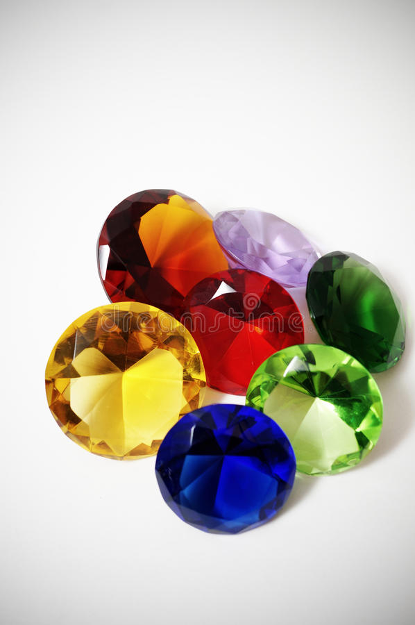 Glass Diamonds royalty free stock photos