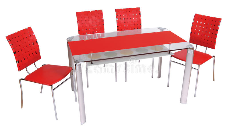 Glass Dining Table And Chairs Stock Photo Image Of Pattern Table 30163302