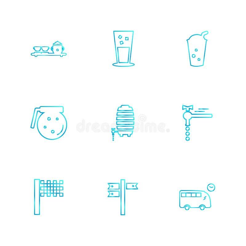 glass , directions , bus ,multimedia , camera , user interface vector illustration