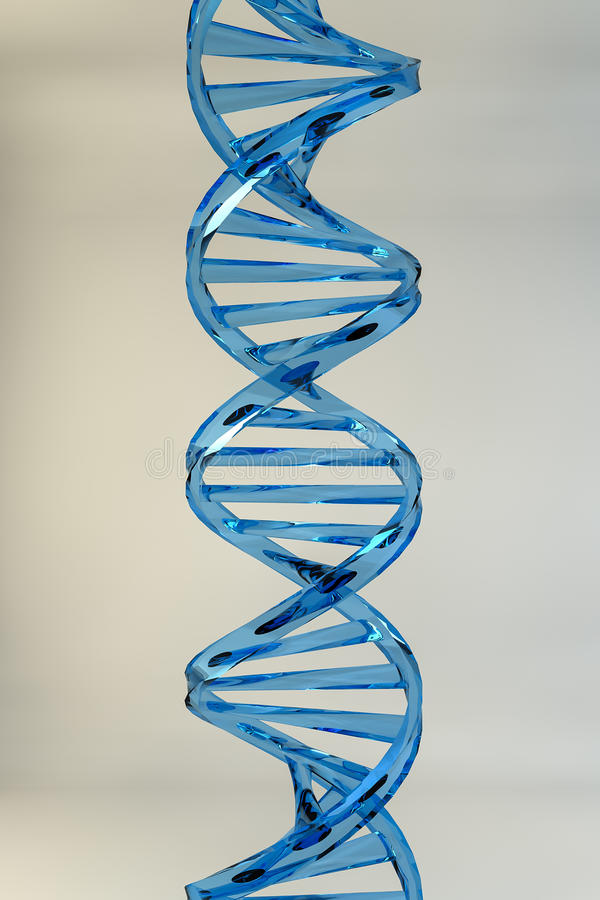 Glass DNA royalty free stock photo