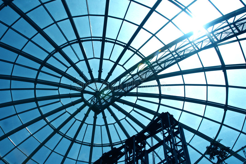 Glass dome. royalty free stock image
