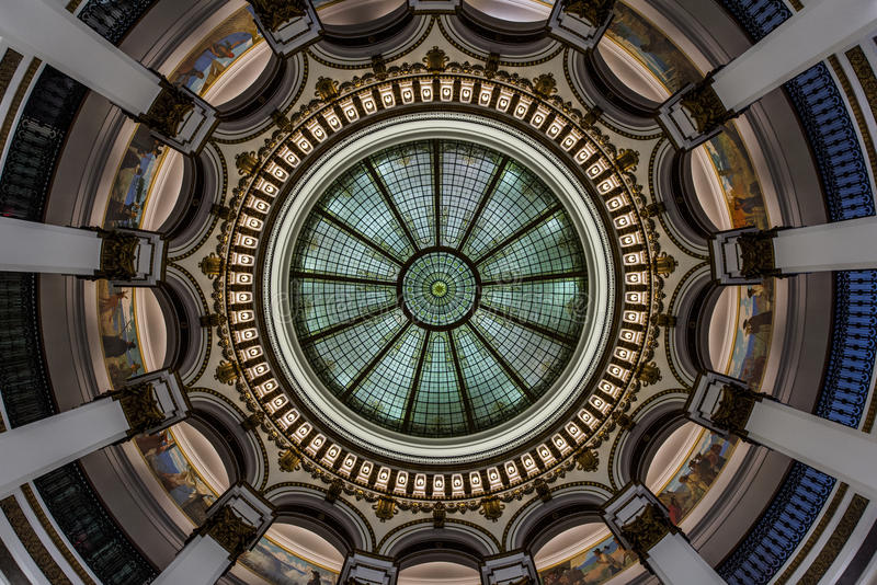 Glass Dome - Historic Building - Downtown Cleveland, Ohio royalty free stock photo