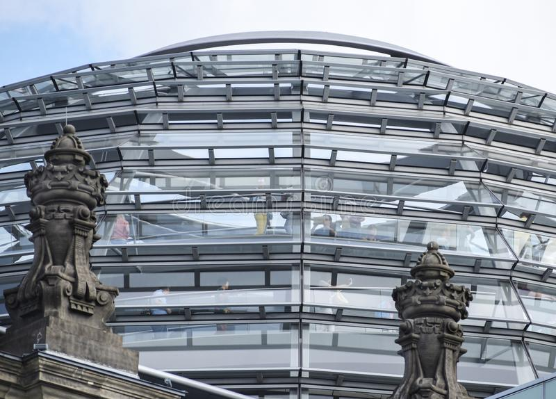 Glass dome of the Reichstag building german government in Berlin the capital city of Germany, Europe royalty free stock images
