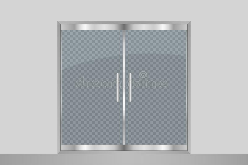 Glass Door And Wall Isolated On Transparent Background Entry