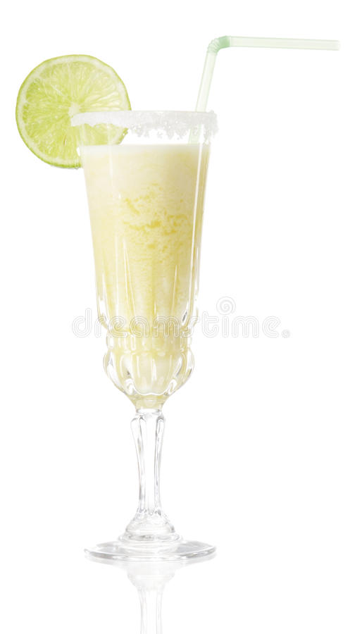 Glass of drink. On white royalty free stock photography