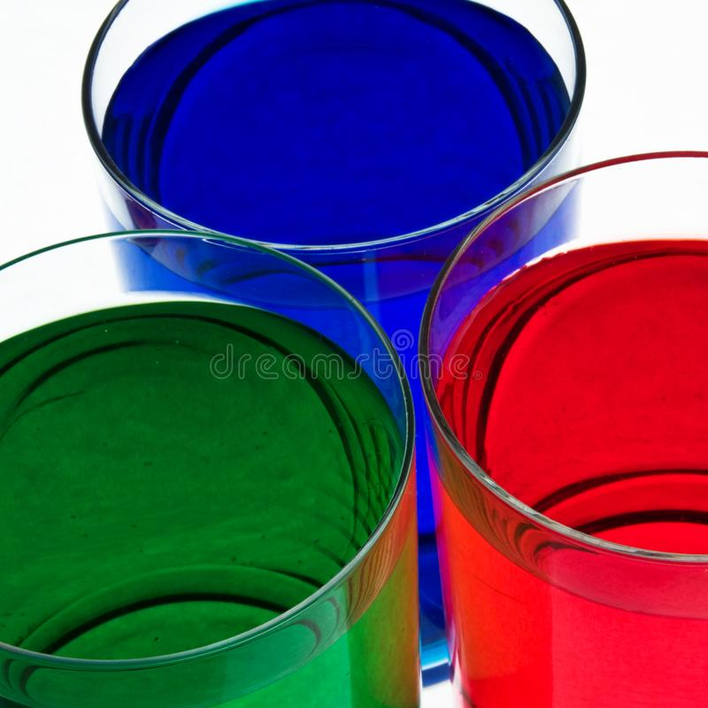 Glass with drink. royalty free stock photo