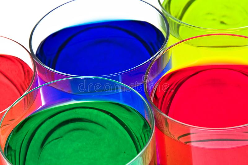 Glass with drink. royalty free stock photos
