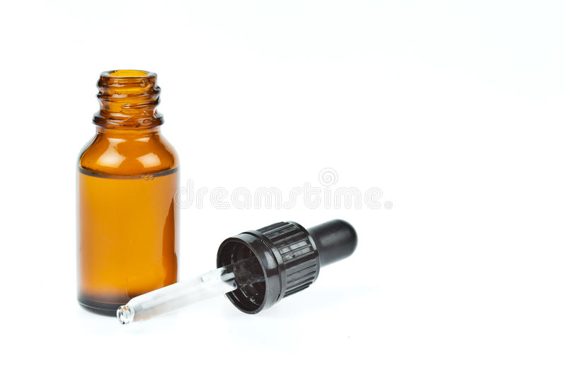 Glass Dropper Filled With Moisturizing Concentrate Royalty Free Stock Photos