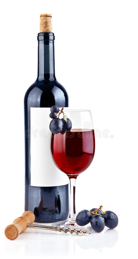 glass druvarött vin arkivfoton