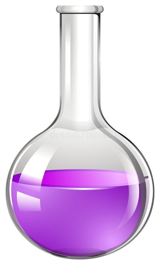 Glass dryckeskärl med purpurfärgad flytande royaltyfri illustrationer