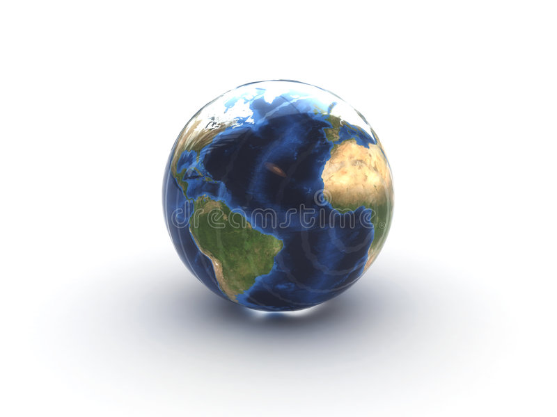Glass earth vector illustration