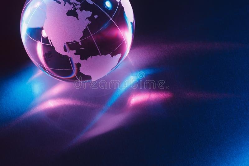 Glass earth globe stock illustration