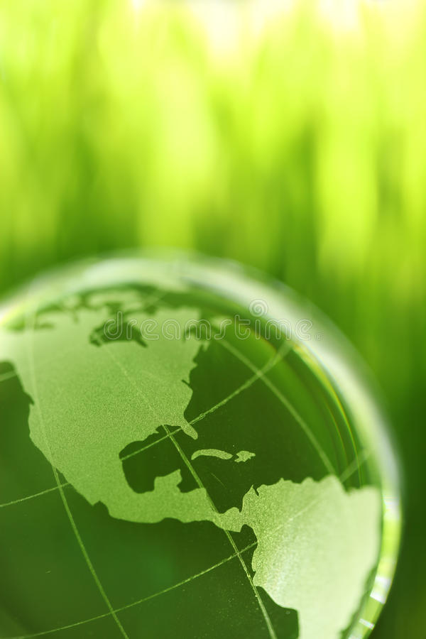Download Glass earth in grass stock image. Image of background - 9807423