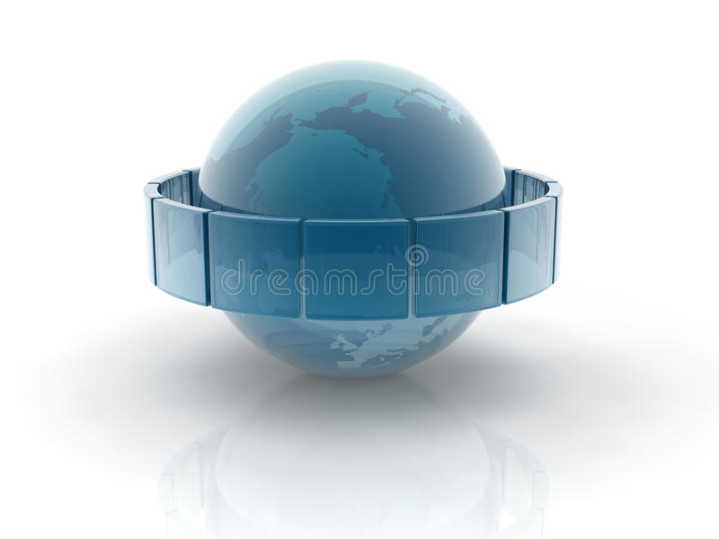 Glass earth sphere vector illustration