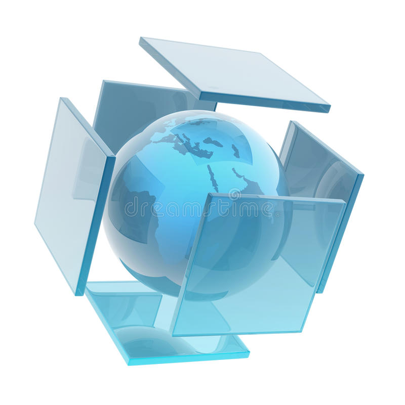 Glass earth sphere stock illustration