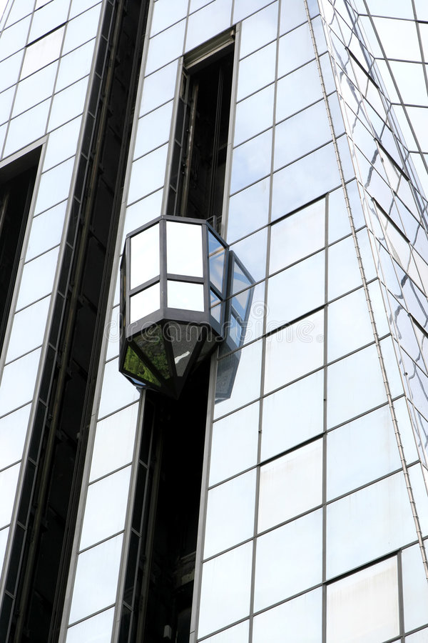 Download Glass Elevator At The Exterior Stock Image - Image: 6508503