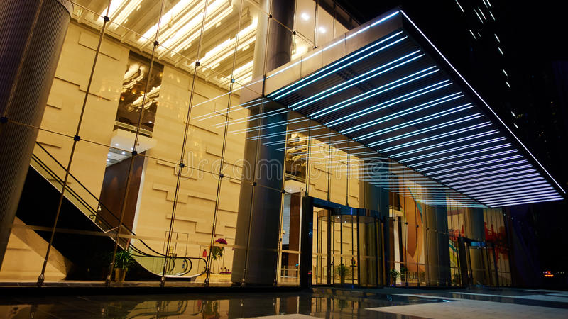 Glass Entrance To Modern Building Stock Photo Image Of