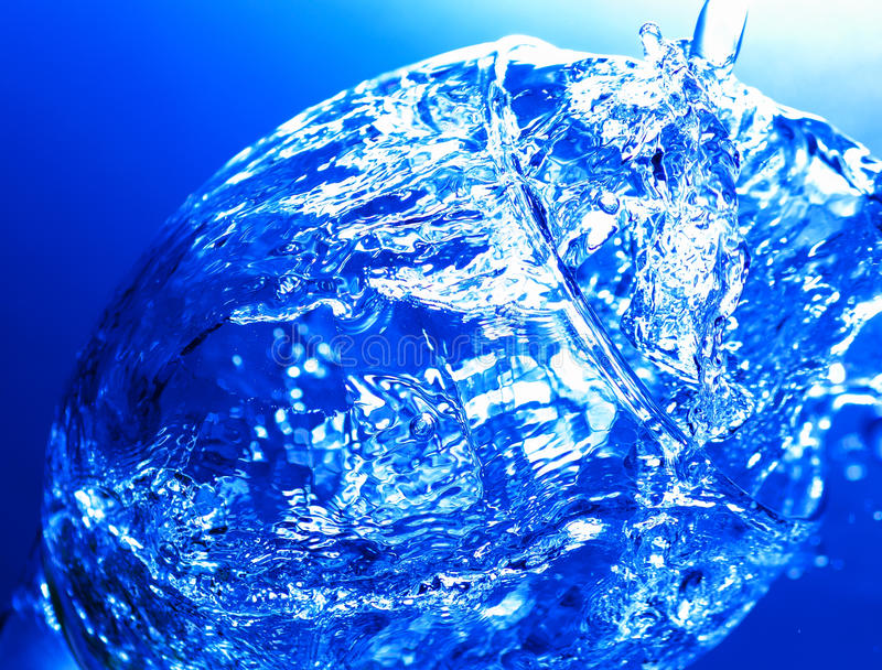 glass färgstänk royaltyfri fotografi