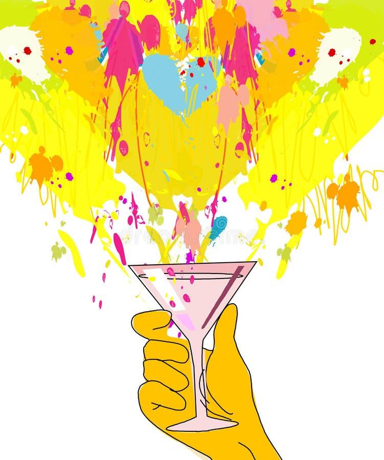 glass färgstänk royaltyfri illustrationer