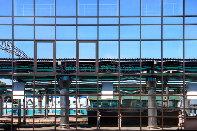 Download Glass Facade Building With Mirrored Windows Stock Photo - Image: 41388714
