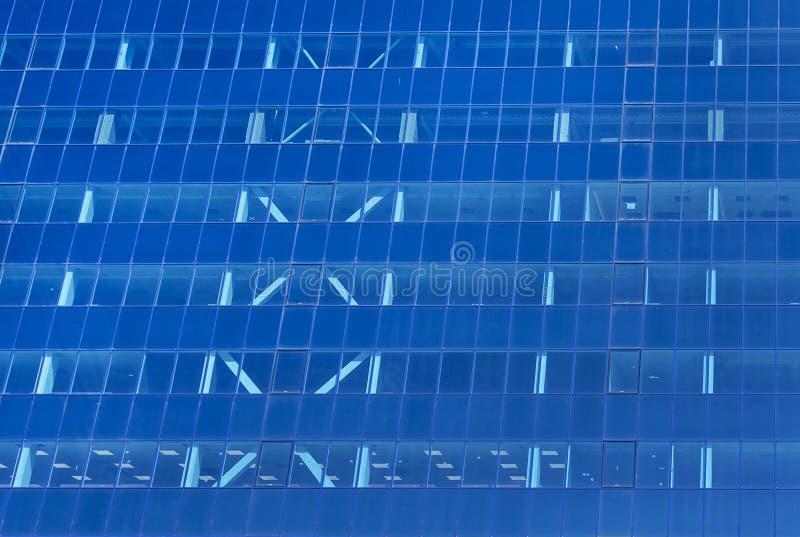Glass facade of a modern office building stock photos