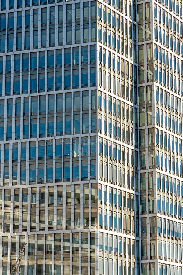 Glass facade of a modern office building stock photography