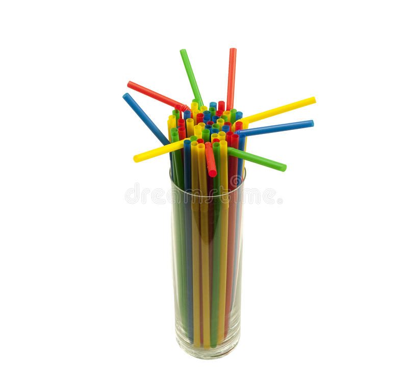 Download Glass filled with straws stock photo. Image of blue, refreshment - 36540104