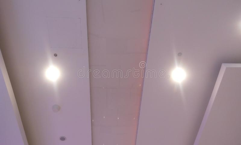 Glass Roof Finish And Gypsum False Ceiling Finishes With