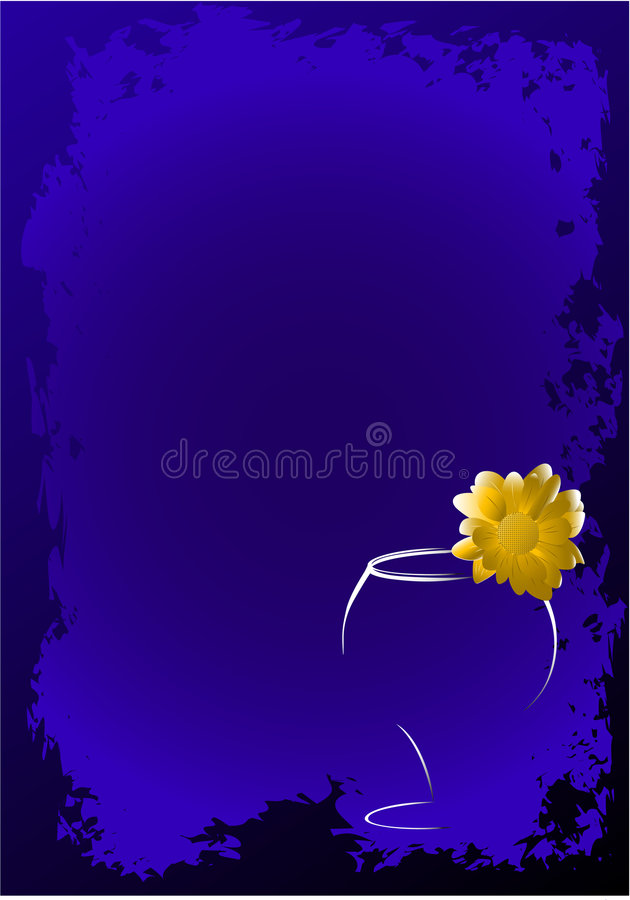 Download Glass with a flower stock vector. Image of design, beautiful - 8273634