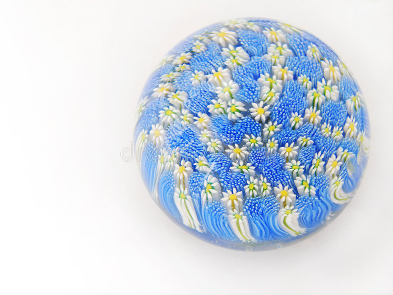 Glass flowers paperweight stock images