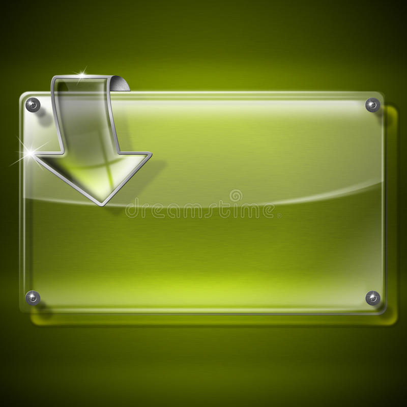 Download Glass Framework with arrow stock illustration. Image of door - 26459384
