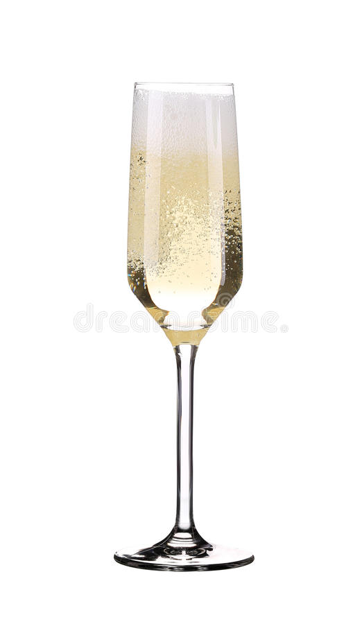 Glass of fresh champagne. stock images