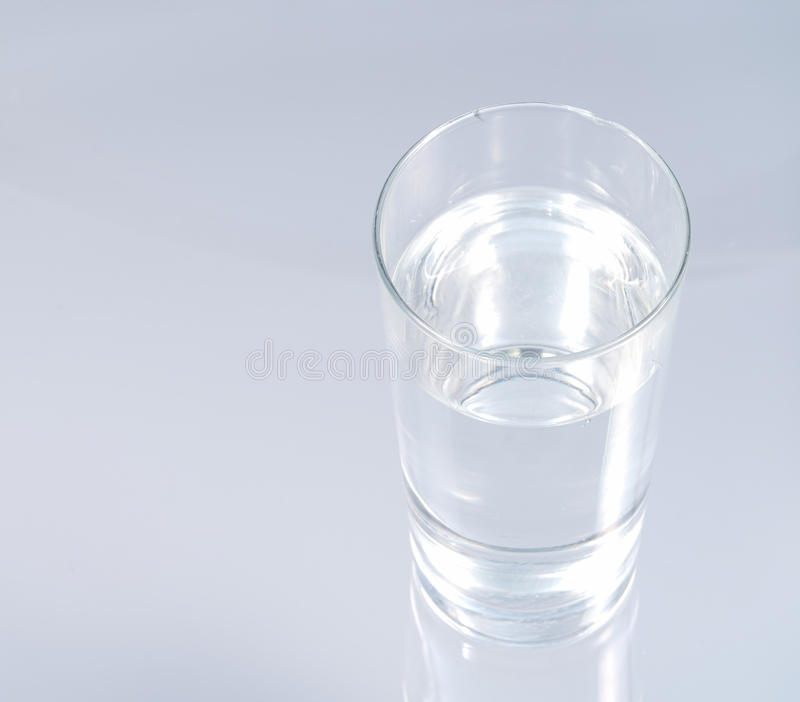 Glass of fresh cold water royalty free stock photography