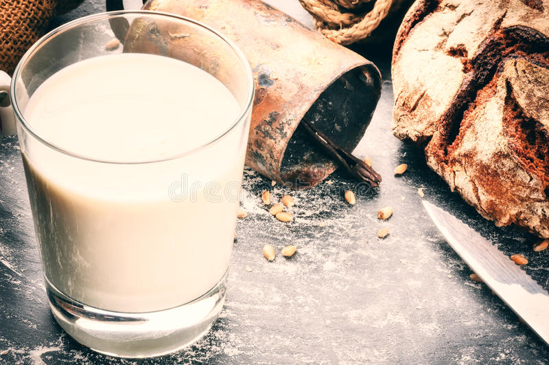 Glass of fresh milk royalty free stock images