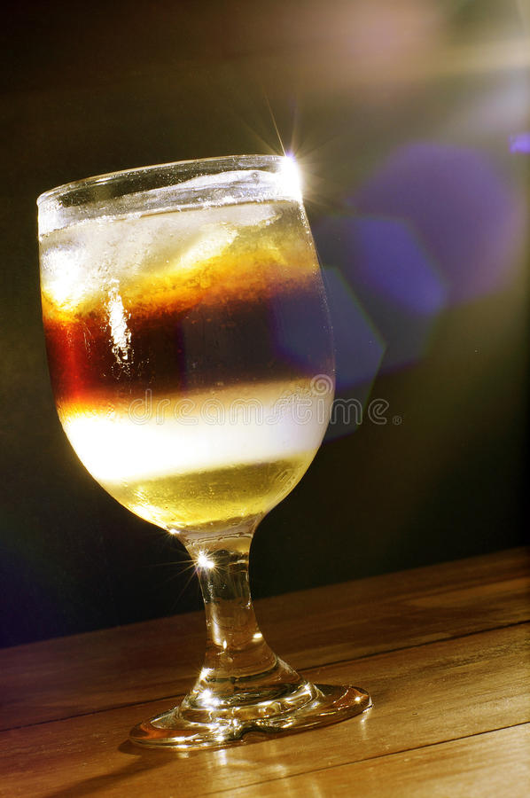 A glass of fresh syrup stock image