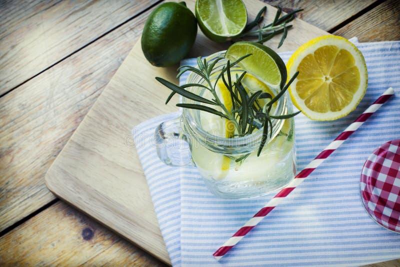 Glass of frozen homemade lemonade royalty free stock image