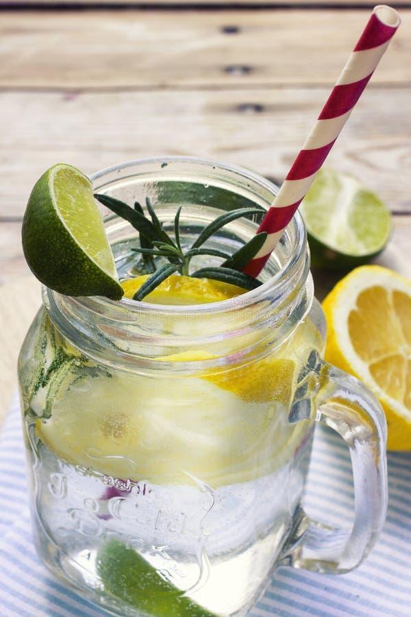 Glass of frozen homemade lemonade stock image