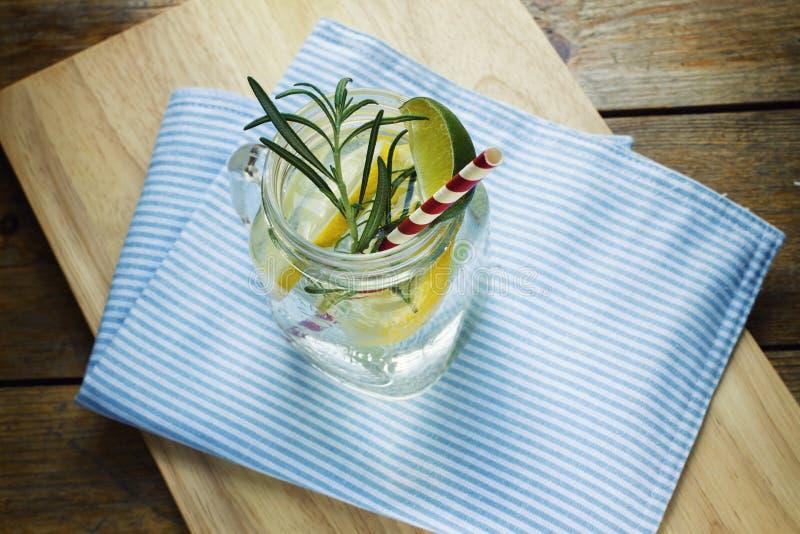 Glass of frozen homemade lemonade stock images
