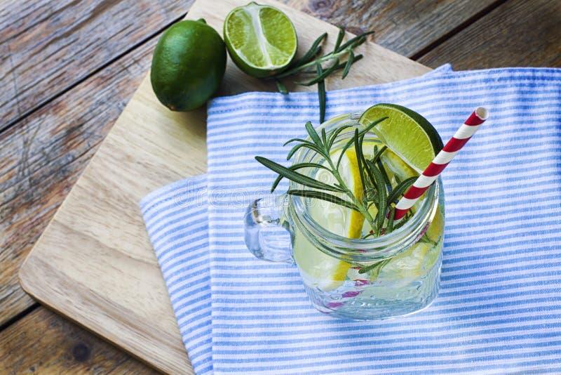 Glass of frozen homemade lemonade royalty free stock photos