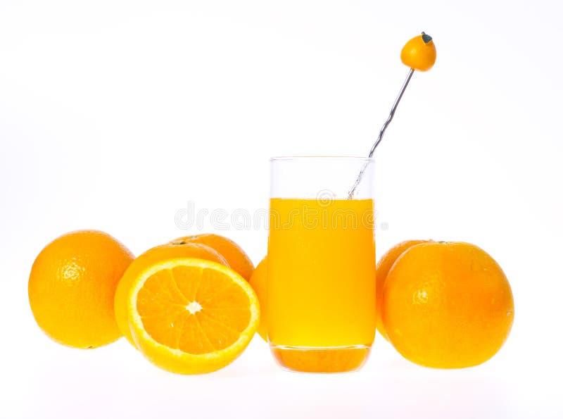 glass fruktsaftorange arkivfoto