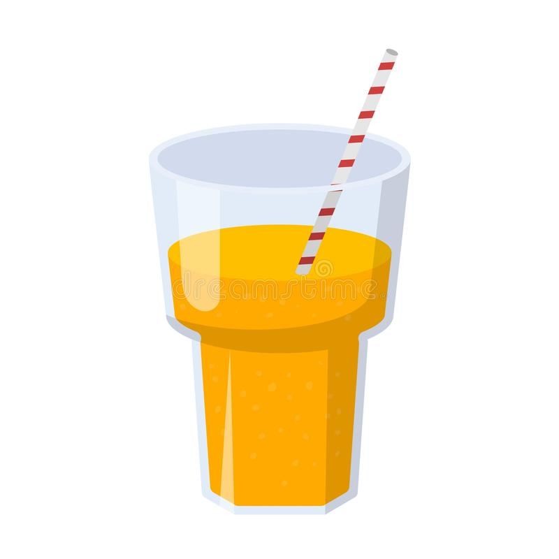 glass fruktsaftorange stock illustrationer