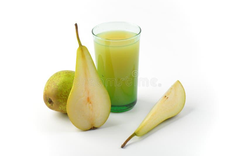 glass fruktsaftpear royaltyfria bilder