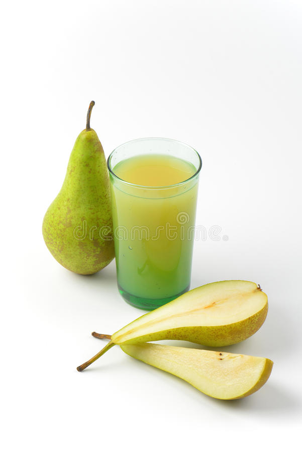 glass fruktsaftpear royaltyfri bild