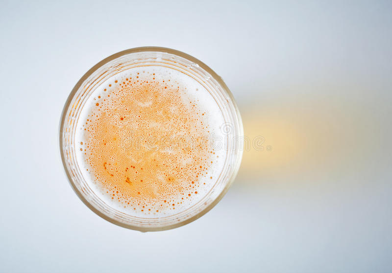 Glass full of beer stock images