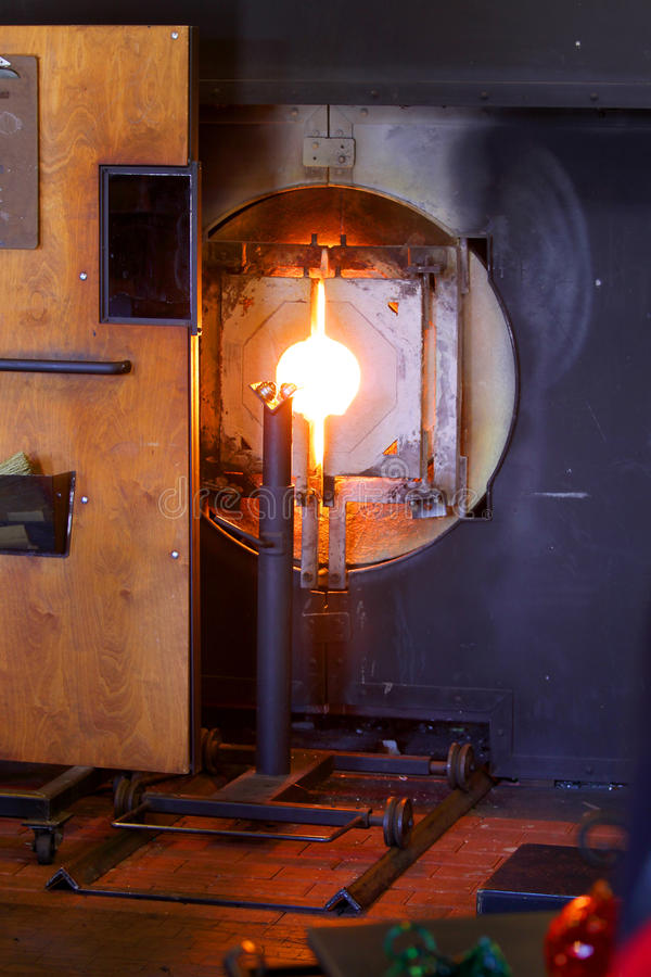Glass furnace royalty free stock images