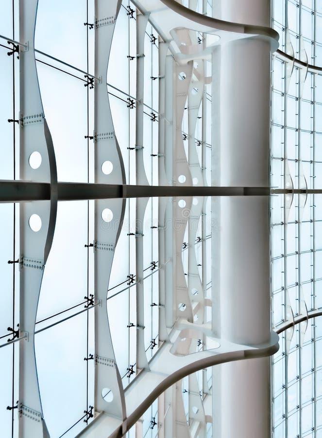 Glass gardinvägg arkivfoton