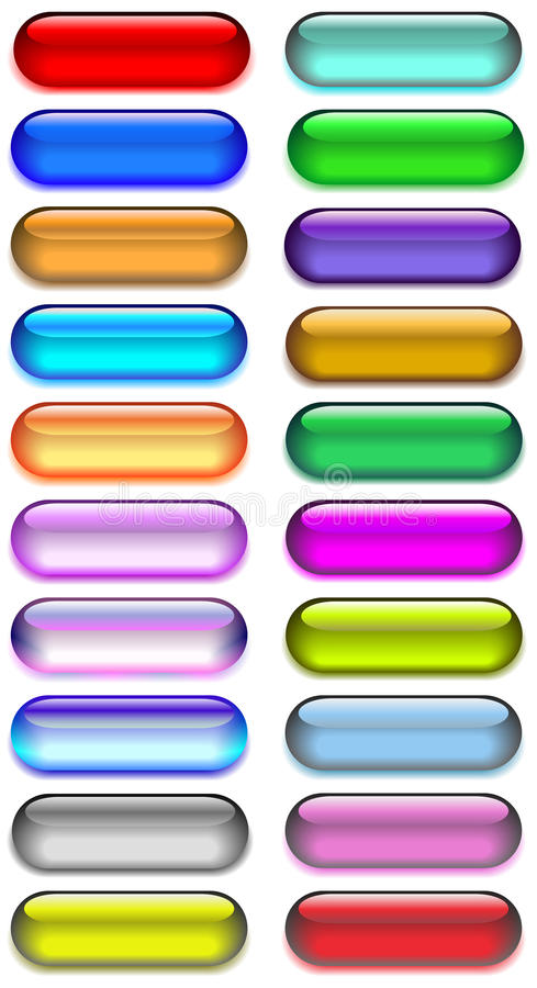 Glass and gel web buttons stock illustration