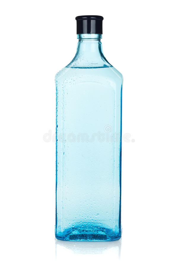 Glass gin bottle royalty free stock photo